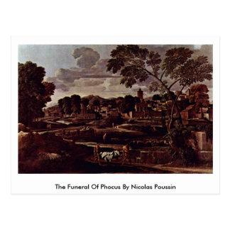 O funeral de Phocus por Nicolas Poussin Cartão Postal