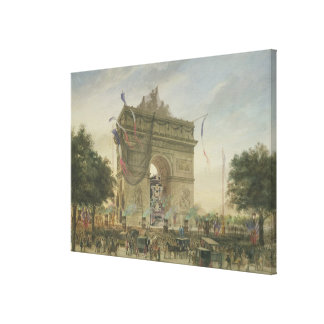 O funeral de Victor Hugo 1885 Impressão Em Canvas