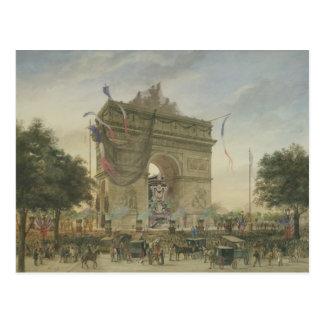 O funeral de Victor Hugo 1885 Cartão Postal