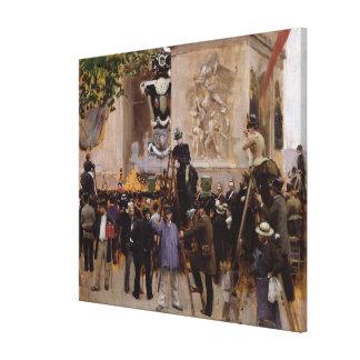 O funeral de Victor Hugo Impressão Em Tela Canvas