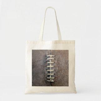 O futebol amarra o vertical bolsas para compras