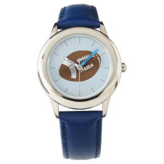 O FUTEBOL americano personalizado do relógio dos