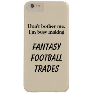O futebol da fantasia troca a capa de telefone do