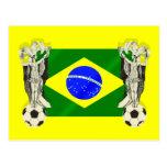 O futebol do futebol da samba ventila os presentes cartão postal