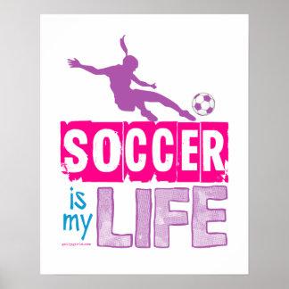 O futebol é minha vida pôster