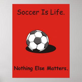 O futebol é vida pôster
