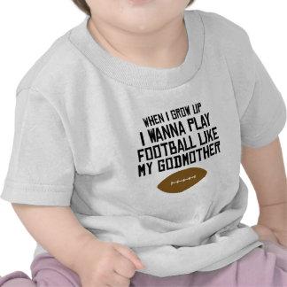 O futebol gosta de minha madrinha camisetas