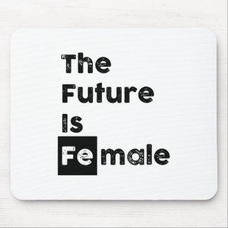 O futuro é símbolo fêmea Mousepad do Fe Chem de |