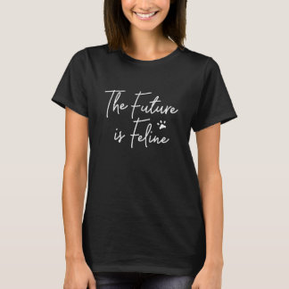 O futuro é t-shirt felino camiseta