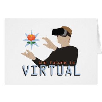 O futuro é virtual cartão