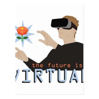 O futuro é virtual cartão postal