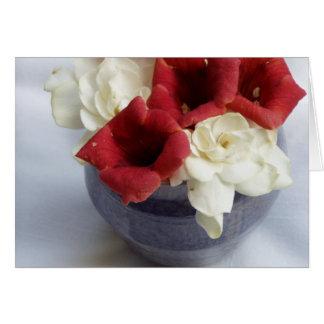 O Gardenia & a trombeta obtêm bem Cartão Comemorativo