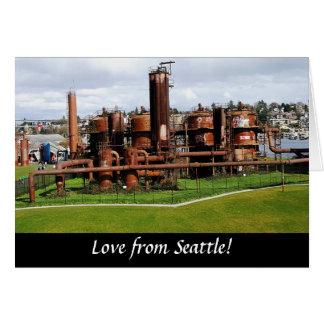 O gás trabalha o cartão de Seattle do parque