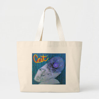 O gato bolsa para compra