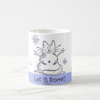 O gato da neve deixou-o nevar caneca