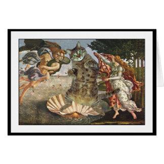 O gato de Botticelli Cartão De Nota
