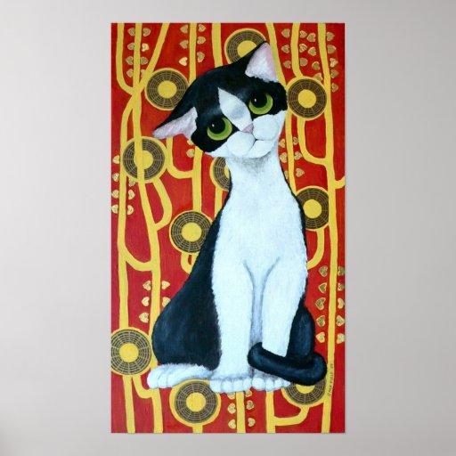 O gato de Klimt Poster