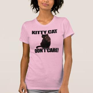 O gato do gatinho não se importa camiseta