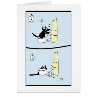 O gato é pesaroso cartão comemorativo
