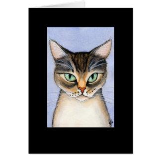 O gato falta-o cartão