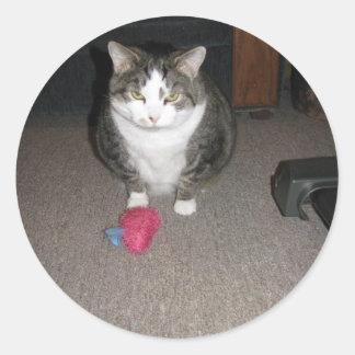O gato gordo mal-humorado não é divertido adesivo