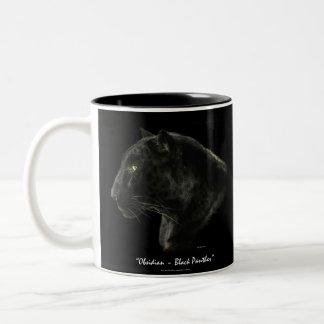 O gato grande preto de Jaguar FAZ MEUS PRETOS! Caneca Dois Tons