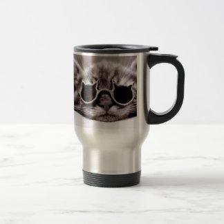 O gato o mais fresco vivo - caneca de viagem