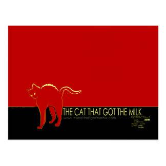 O gato que obteve o cartão do leite