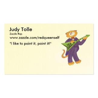 o gato quente lambe, Judy Tolle, representante de Cartão De Visita