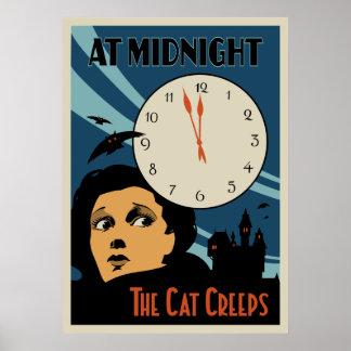 """O gato rasteja"" cartaz cinematográfico do vintage Poster"