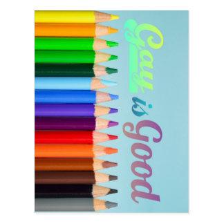 O gay é bom design cartão postal