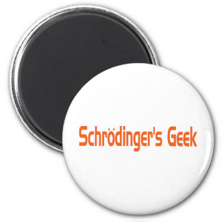 O geek de Schrodinger Ímã Redondo 5.08cm