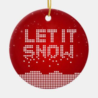 O geek do Natal deixou-o nevar ornamento