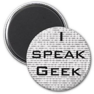 O geek fala o ímã ímã redondo 5.08cm