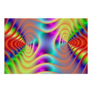 O gêmeo psicadélico espirala poster