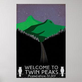 O gêmeo repica o poster de viagens