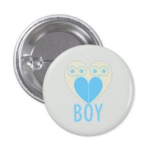 O género da coruja do bebé revela o botão do parti bóton redondo 2.54cm