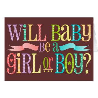 O género do bebê revela - cartões de nota feitos