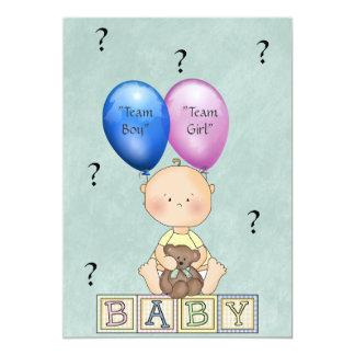O género do bebê revela o convite de festas