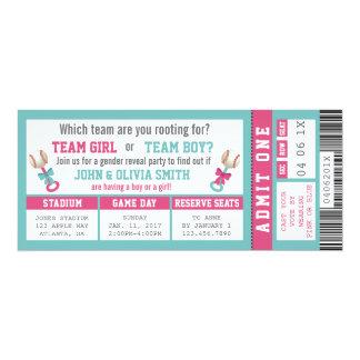 O género do bilhete dos esportes revela o convite, convite 10.16 x 23.49cm