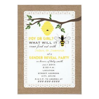 O género temático inspirado serapilheira da abelha convites personalizados