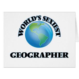 """O geógrafo o mais """"sexy"""" do mundo cartão"""