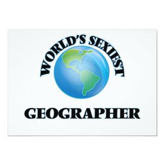 """O geógrafo o mais """"sexy"""" do mundo convite personalizados"""