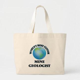 O geólogo o mais inteligente da mina do mundo sacola tote jumbo