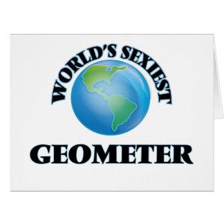 """O Geometer o mais """"sexy"""" do mundo Cartoes"""