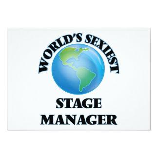 """O gerente de palco o mais """"sexy"""" do mundo convites personalizados"""