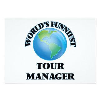 O gerente o mais engraçado da excursão do mundo convites personalizados