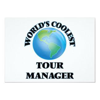 O gerente o mais fresco da excursão do mundo convites personalizados