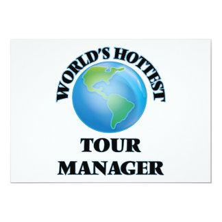 O gerente o mais quente da excursão do mundo convite personalizado