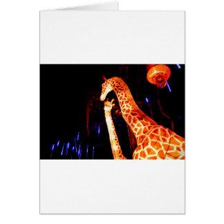 O girafa ilumina acima a arte do festival da cartão comemorativo